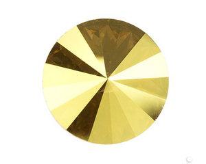 Swarowski Rivoli 12 mm. Crystal Metallic Sunshine.