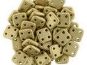 Czech Mate® QuadraTile, Matte Metallic Flax, K0171. 5 gram.