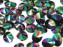Swarowski Rivoli 14 mm, Crystal Rainbow Dark.