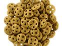 Czech Mate® QuadraLentil, Metallic Antique Gold Matte, K0174. 5 gram.