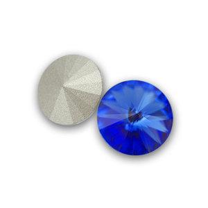 Swarowski Rivoli, 12 mm. Sapphire.
