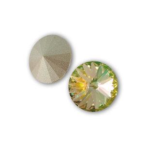 Swarowski Rivoli, 14 mm. Crystal Luminous Green.
