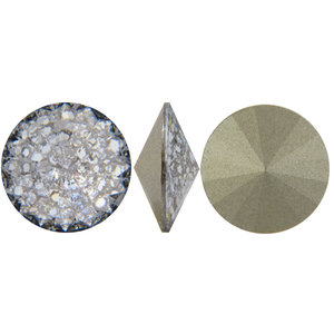 Swarowski Rivoli, 12 mm. Crystal Silver Patina.