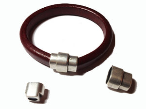 Magnetlås för Regaliz läder i grekisk kvalitetsmetall, 15*20*11 mm.