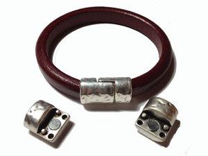 Magnetlås för Regaliz läder i grekisk kvalitetsmetall, 14,5*23,5*10,5 mm.