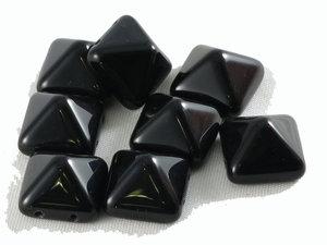 Stud bead svarta, 12*12 mm. 10-pack