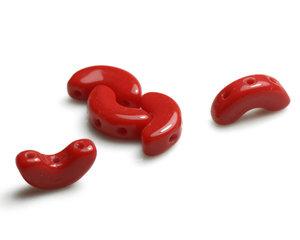 Arcos® par Puca®, 5*10 mm. Opaque Coral Red, 93200.  10 gram.