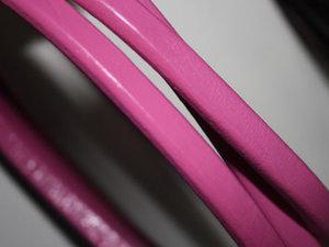 Rosa Regaliz läder, 10*6 mm. Priset är per 5 cm.