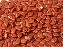 Dragon scale bead, Lava Red. 5 gram