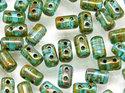 Rulla beads, Aqua Dark Travertin, 60020/86805. 10 gram