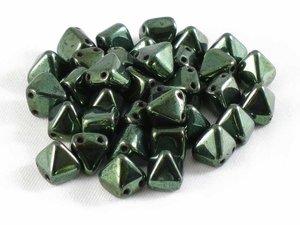 Tile Pyramid, green metallic , 20-pack