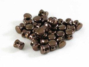 Pellet beads, Jet Bronze Luster , 50-pack