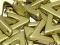 Ava Bead, Metallic Mat Olivine. 5 st