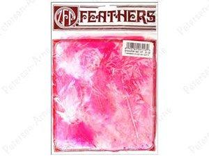 Kalkonfjädrar i blandade rosa nyanser, 7 gram.