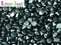 Button Bead, Pastel Dark Grey, 25037. 30-pack.