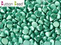 Button Bead, Metallic Mat Green Turqoise, 29455. 30-pack.