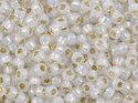 TOHO seedbead 11/0, Silver Lined Milky White. 5 gram.