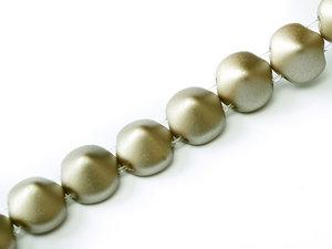 Tipp bead Pastel Light Brown,25005, 8 mm. En sträng med 20 pärlor.