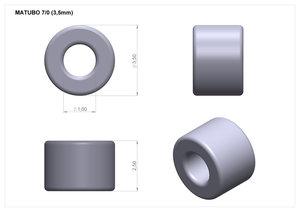 Matubo 7/0, Bronze Grey Satin, 01670. 10 gram.
