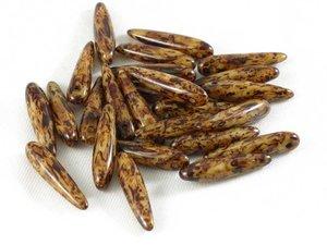 Thorn beads, Beige Travertin, 25-pack.