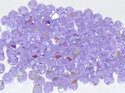 Machine cut bikon från Preciosa, 3 mm. Violet AB. 10-pack.