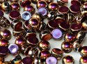 Cabochon en tvåhålig pärla, 6 mm. Crystal Full Sliperit, 00030/29503. 10-pack.