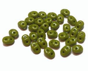 Opak limegrön Superduo, 10 gram