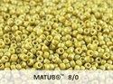 Matubo 8/0, Alabaster Pastel Lime. 10 gram.