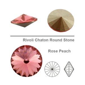 Swarowski Rivoli 14 mm, Rose Peach