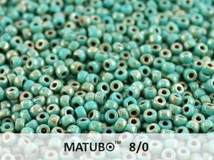 Matubo 8/0, Jade Picasso. 10 gram.