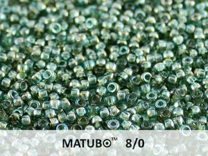 Matubo 8/0, Aqua Celsian. 10 gram.