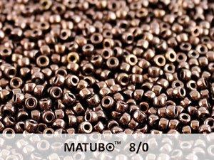 Matubo 8/0, Jet Bronze. 10 gram.