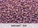 Matubo 8/0, Crystal Lila Vega Luster. 10 gram.