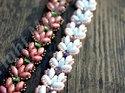 Mönster på armbandet Lotus Chain av Olga. (skickas per e-post)