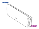 CWE22C1397 - Front cover for Panasonic heat pump and air conditioner