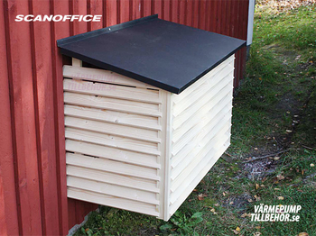 Heat pump cover with tin roofing