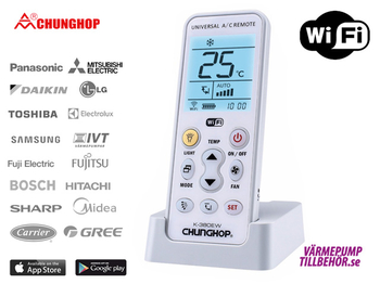 WiFi remote control for air conditioners