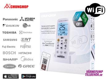 WiFi-styrning för luftvärmepump och AC