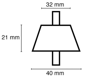 Koniska vibrationsdämpare, max. belastning 100 kg