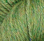 Llam Silk Skogsgrön melange
