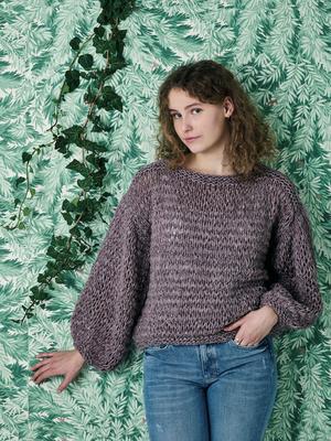 Sweater med dubbla maskor i Isabella