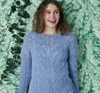 Sweater med resår & mönster i Isabella