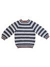 Mönsterstickad tröja barn i No.4 Ekologisk ull-nässlor