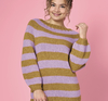 Randig sweater med raglan