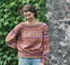 Ballongsweater med hålrader