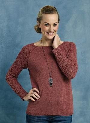 Sweater med mönstrade ärmar - Ellen