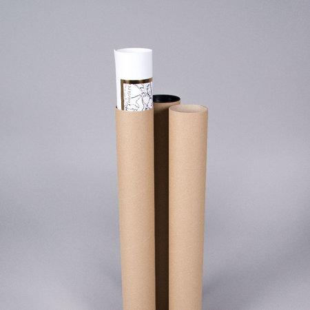 PAPPTUB - Brun / L54cm x Ø70mm inkl. lock