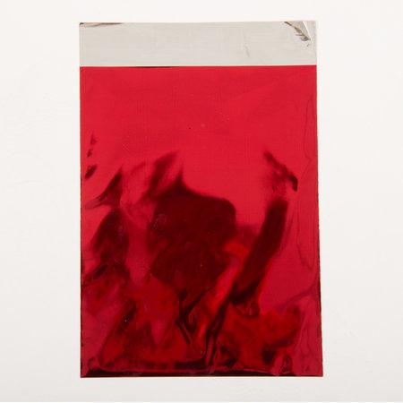 Foliepåse - Blanka/Röd L