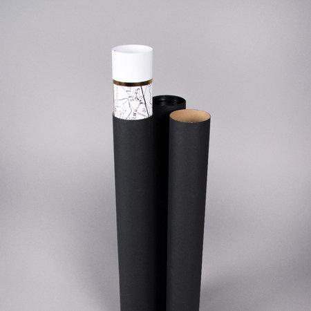 PAPPTUB - Svart / L54cm x Ø70mm inkl. lock