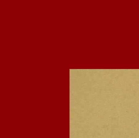 PRESENTPAPPER - Röd/Guld 36cm